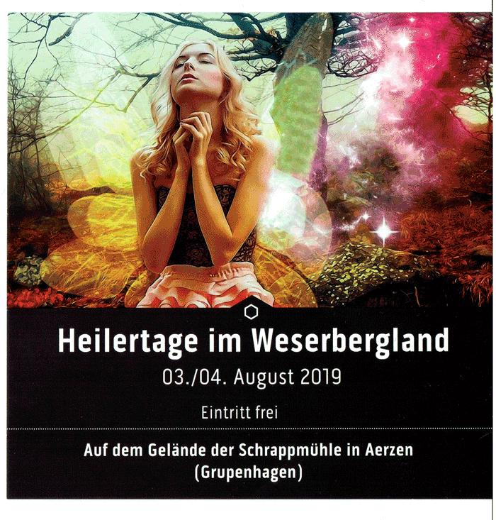 "Plakat ""Heilertage im Weserbergland"""