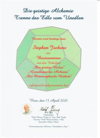 Zertifikat Geistige-Alchemie-Basisseminar