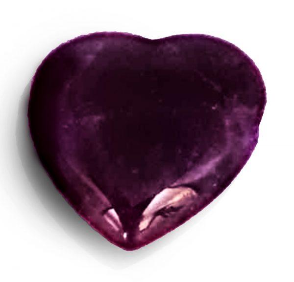 Strahlenschutzanhänger Ametyst in Herzform