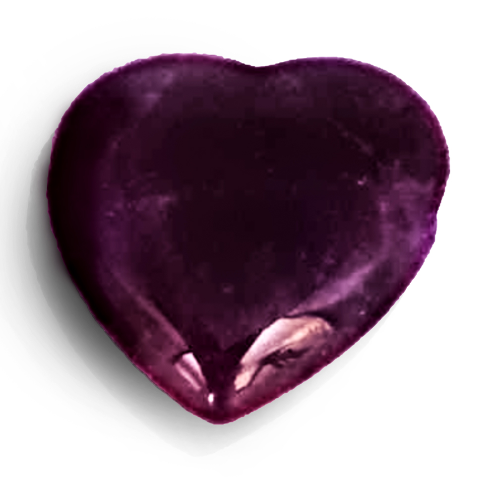 Strahlenschutzanhänger Amethyst Herz