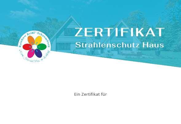 Zertifikat Strahlenschutz Haus